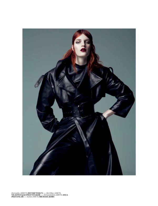 LauraEmreVogue5 Laura Kampman Dons Cutting Edge Style for Vogue Turkeys January Issue