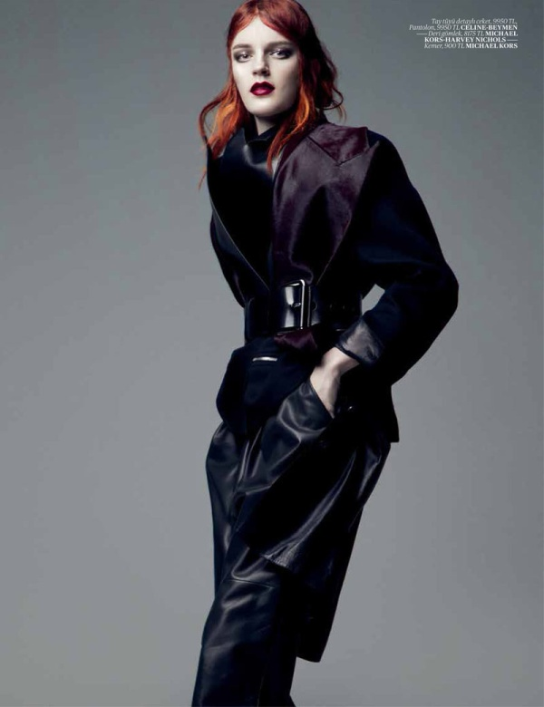 LauraEmreVogue6 Laura Kampman Dons Cutting Edge Style for Vogue Turkeys January Issue