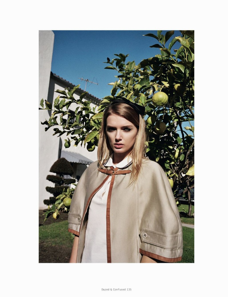 LilyDazedShoot10 Lily Donaldson Goes Back to School for Dazed & Confuseds February Issue