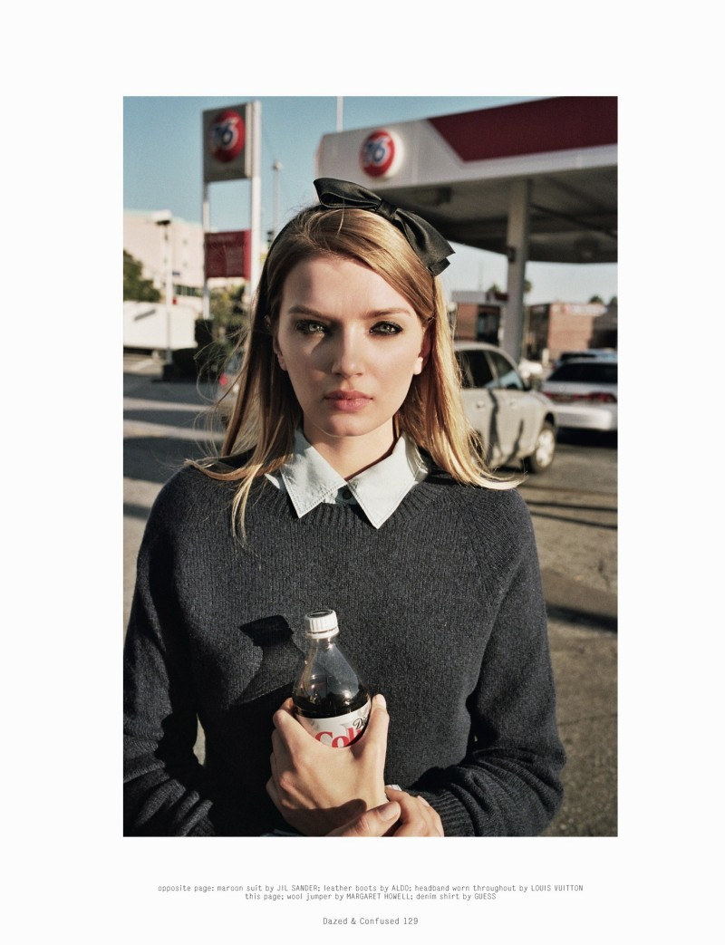 LilyDazedShoot2 Lily Donaldson Goes Back to School for Dazed & Confuseds February Issue