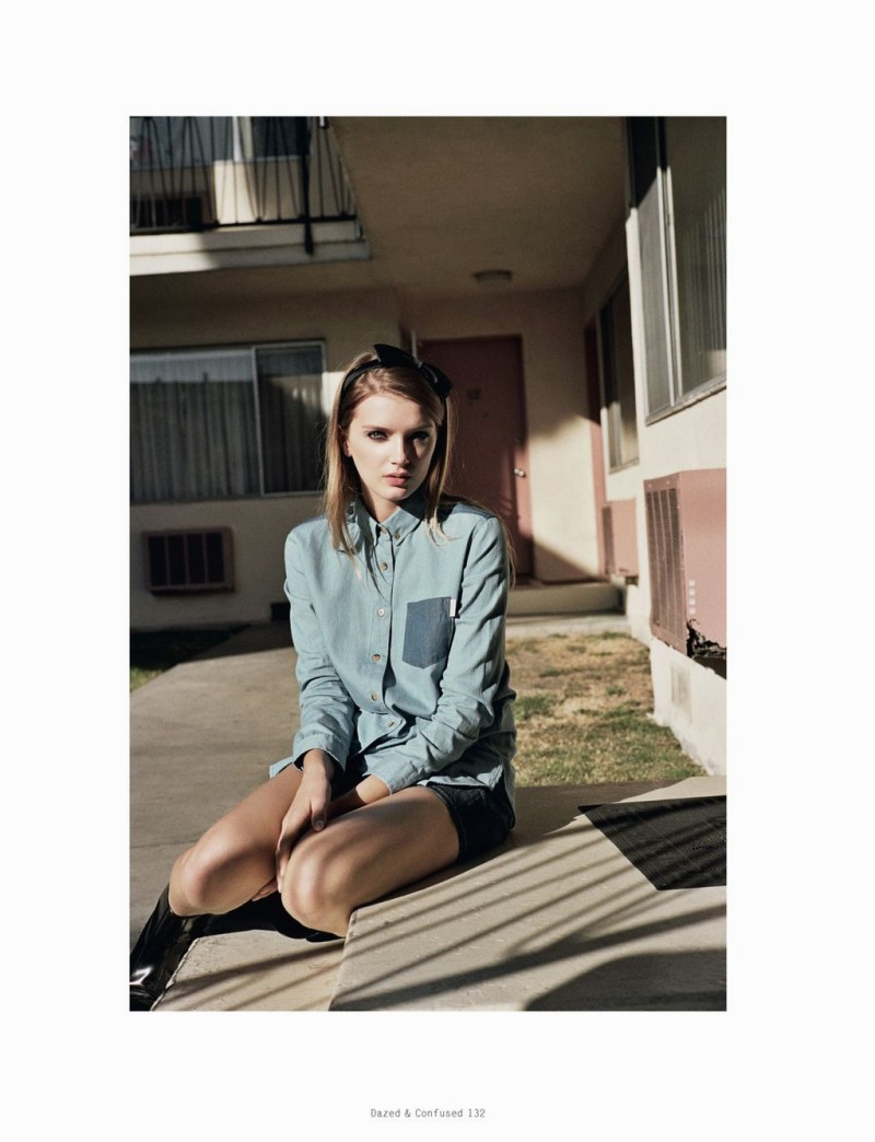 LilyDazedShoot5 Lily Donaldson Goes Back to School for Dazed & Confuseds February Issue