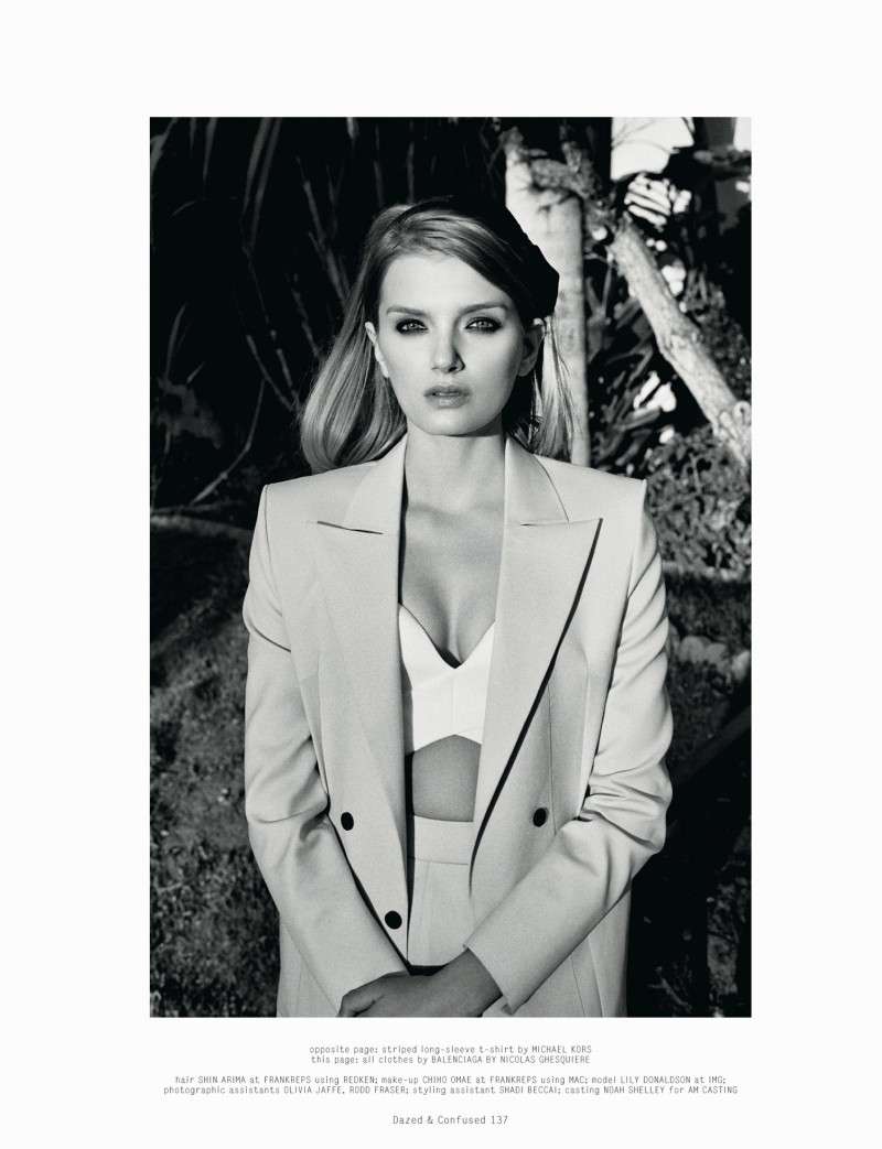LilyDazedShoot7 Lily Donaldson Goes Back to School for Dazed & Confuseds February Issue