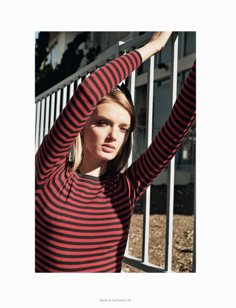 Lily Donaldson Goes Back to School for Dazed & Confused's February Issue