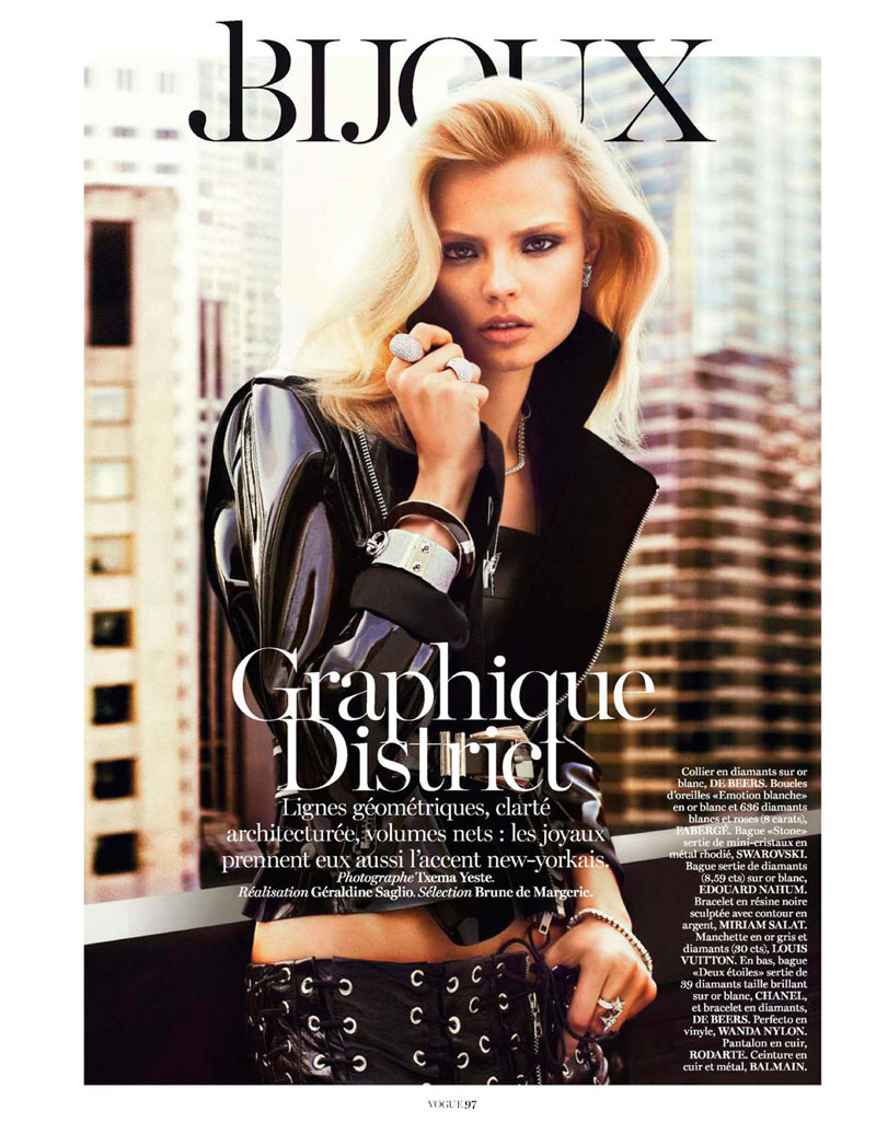 MagdalenaBeauty1 Magdalena Frackowiak Shines for Txema Yeste in Vogue Paris February 2013