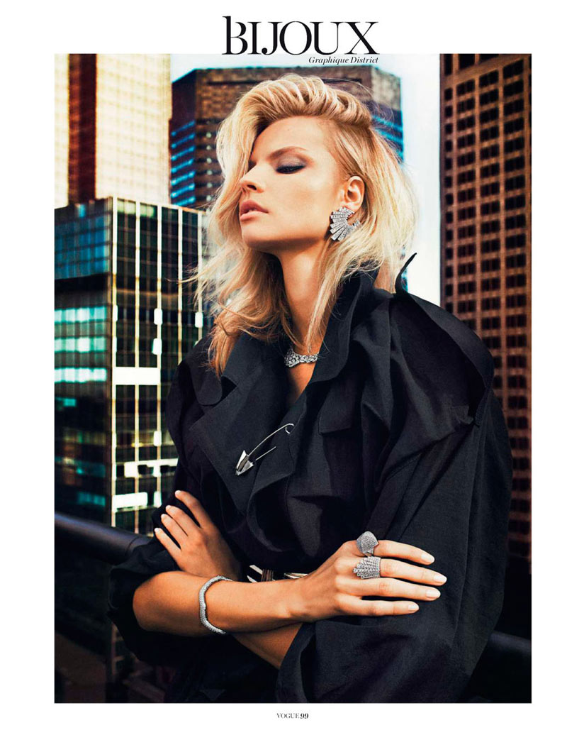 MagdalenaBeauty3 Magdalena Frackowiak Shines for Txema Yeste in Vogue Paris February 2013