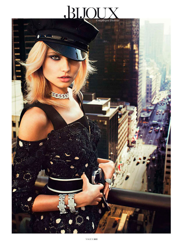 MagdalenaBeauty6 Magdalena Frackowiak Shines for Txema Yeste in Vogue Paris February 2013