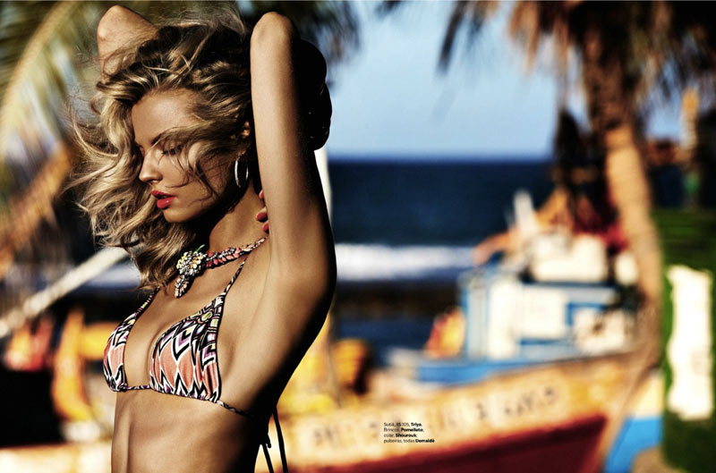 MagdalenaSwim4 Magdalena Frackowiak Models Sexy Swim for Vogue Brazil February 2013 by Giampaolo Sgura
