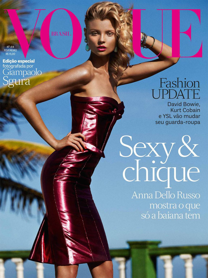 Magdalena Frackowiak Models Sexy Swim for Vogue Brazil February 2013 by Giampaolo Sgura