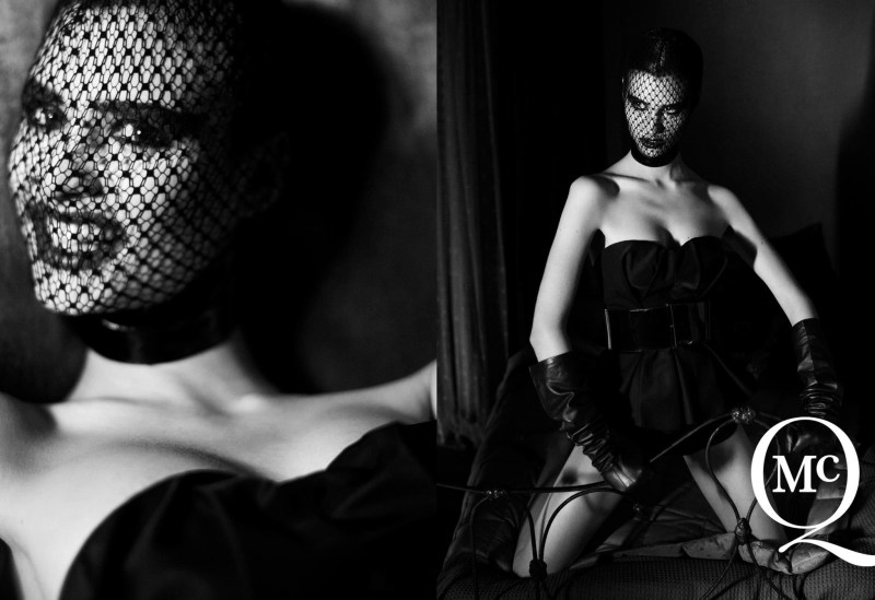 McQSpring4 McQ by Alexander McQueens Spring 2013 Campaign Takes on Fetish Style with Manon Leloup