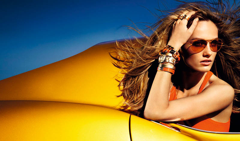 MichaelKorsSS2 Karmen Pedaru is California Glam for Michael Kors Spring 2013 Campaign by Mario Testino