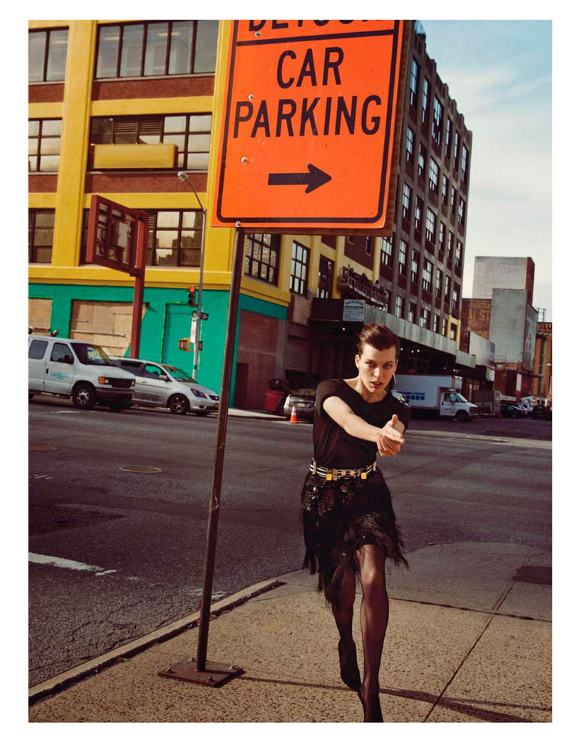 MillaNewYork10 Milla Jovovich Takes on New York for Vogue Paris February Issue by Inez & Vinoodh