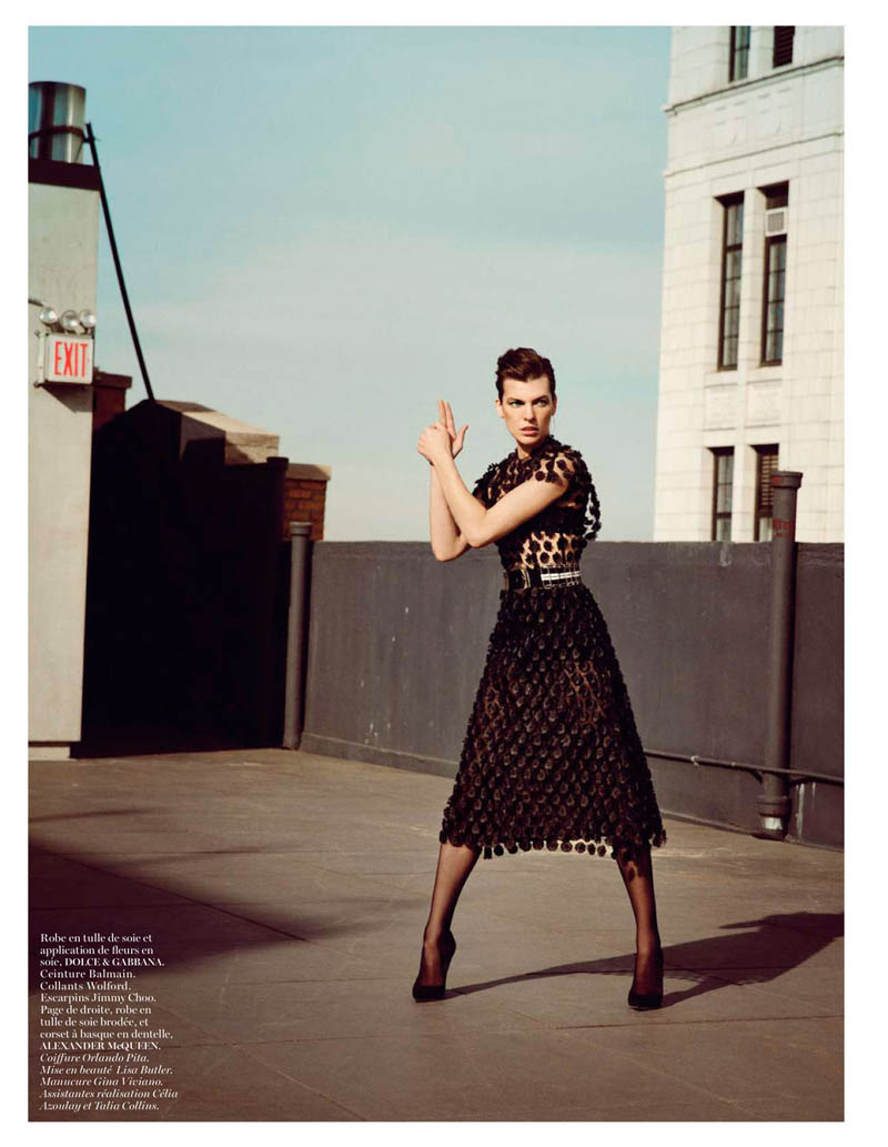 MillaNewYork11 Milla Jovovich Takes on New York for Vogue Paris February Issue by Inez & Vinoodh