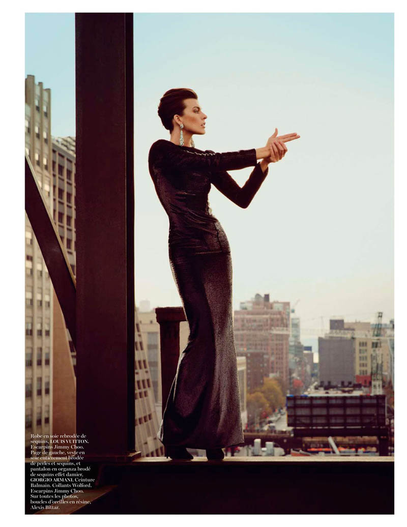 MillaNewYork2 Milla Jovovich Takes on New York for Vogue Paris February Issue by Inez & Vinoodh