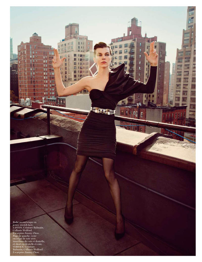 MillaNewYork8 Milla Jovovich Takes on New York for Vogue Paris February Issue by Inez & Vinoodh