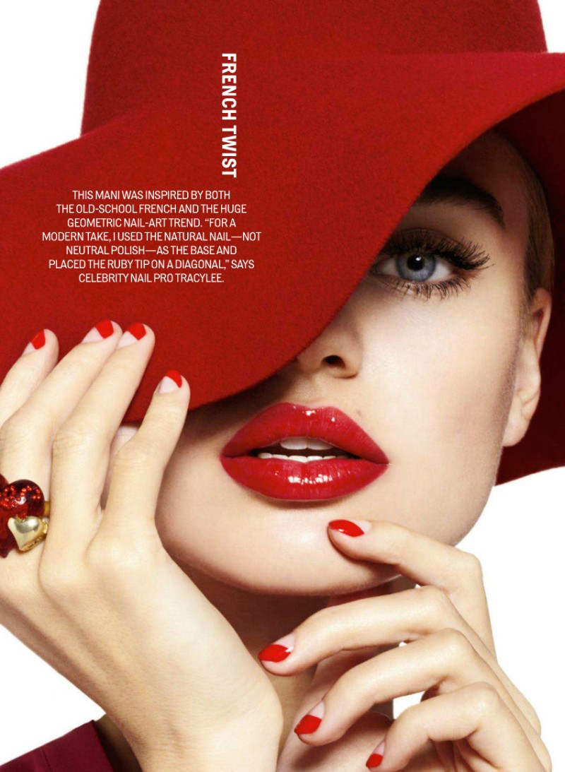 Milou Sluis is Red Hot in Cosmopolitan's February Issue by Jamie Nelson