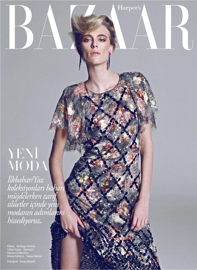 Milou van Groesen Poses in Harper's Bazaar Turkey February 2013 Cover Shoot by Koray Birand
