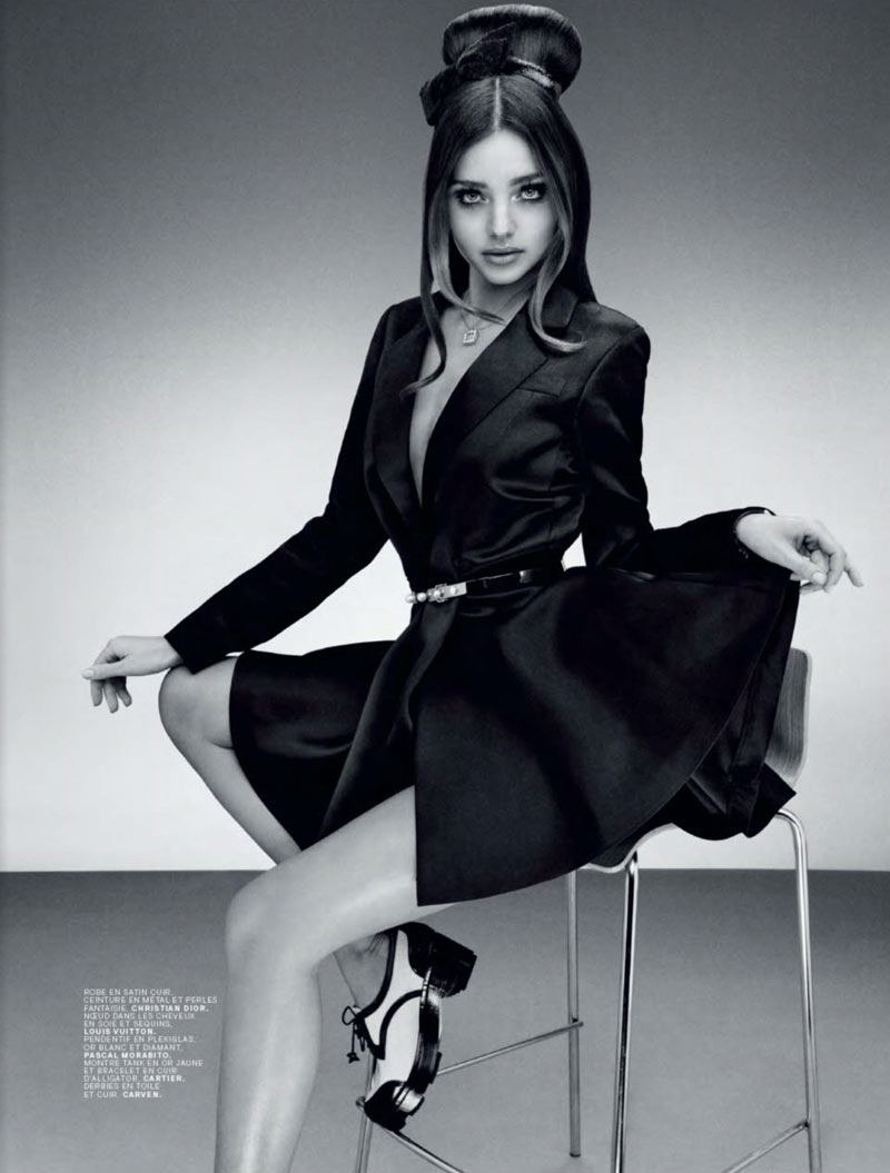 MirandaJalouse8 Miranda Kerr is Retro Glam for the February Cover Shoot of Jalouse