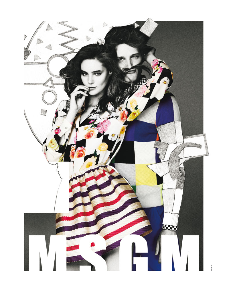 Msgm sogD Juju Ivanyuk Gets Illustrated for MSGM Spring 2013 Campaign by Giampaolo Sgura