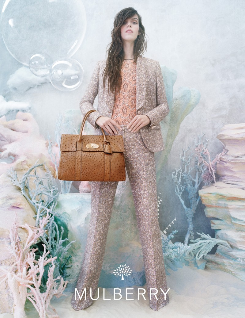 MulberrySS131 Meghan Collison is a Pastel Dream in Mulberrys Spring 2013 Campaign by Tim Walker