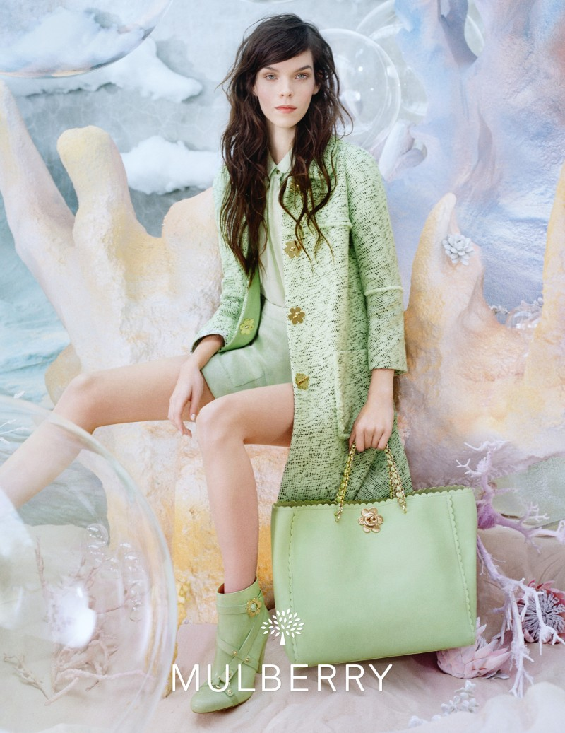MulberrySS132 Meghan Collison is a Pastel Dream in Mulberrys Spring 2013 Campaign by Tim Walker