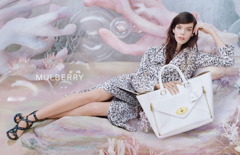 MulberrySS136 Meghan Collison is a Pastel Dream in Mulberrys Spring 2013 Campaign by Tim Walker