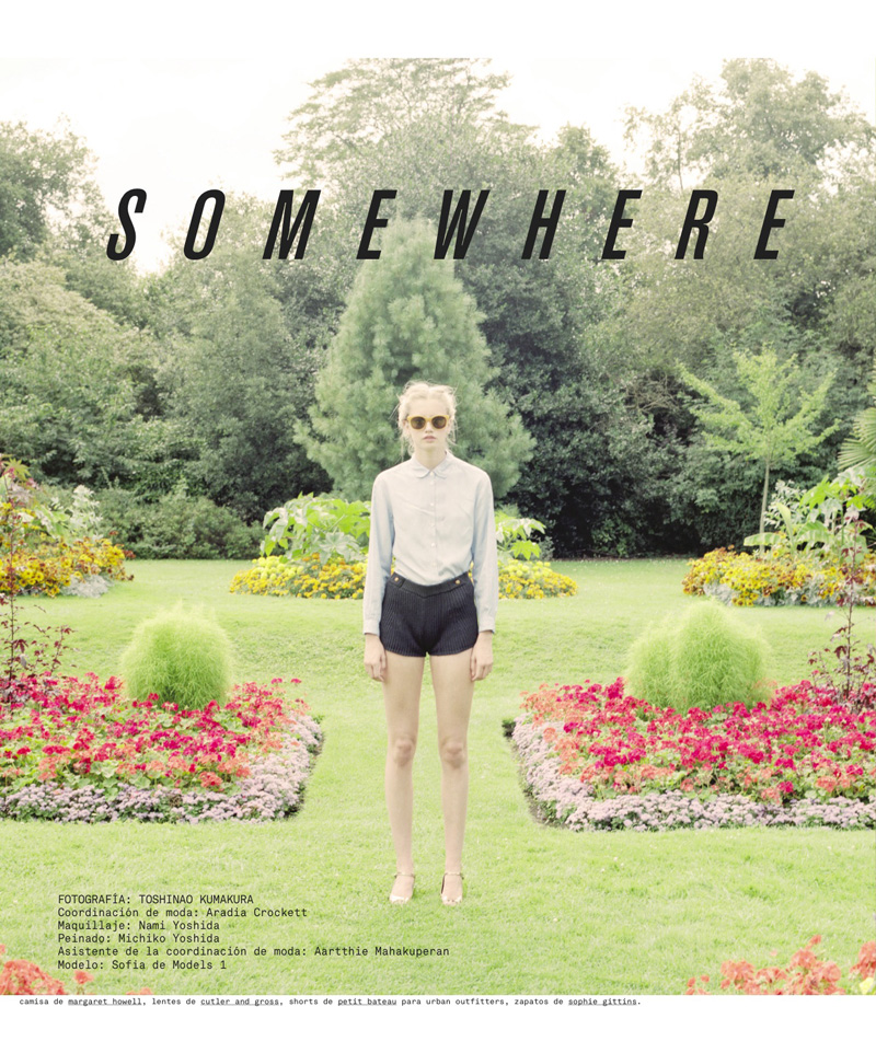 N41 SOMEWHERE Sofia Fisher Poses for Toshinao Kumakura in Nylon Mexicos January Issue