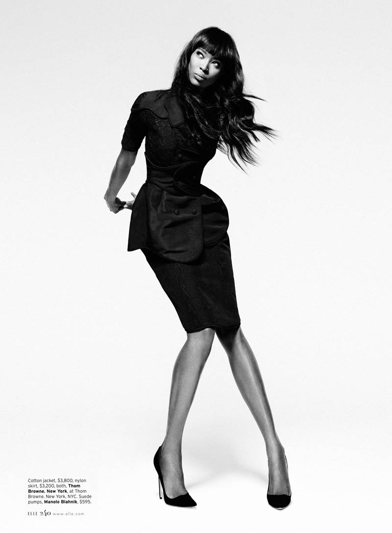 Naomi Campbell S01 0065 Naomi Campbell Works It for Elle US February 2013 by Thomas Whiteside