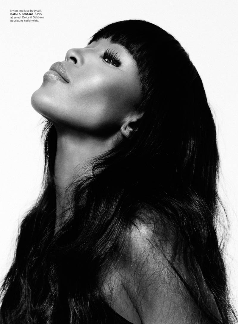 Naomi Campbell S02 0096 Naomi Campbell Works It for Elle US February 2013 by Thomas Whiteside