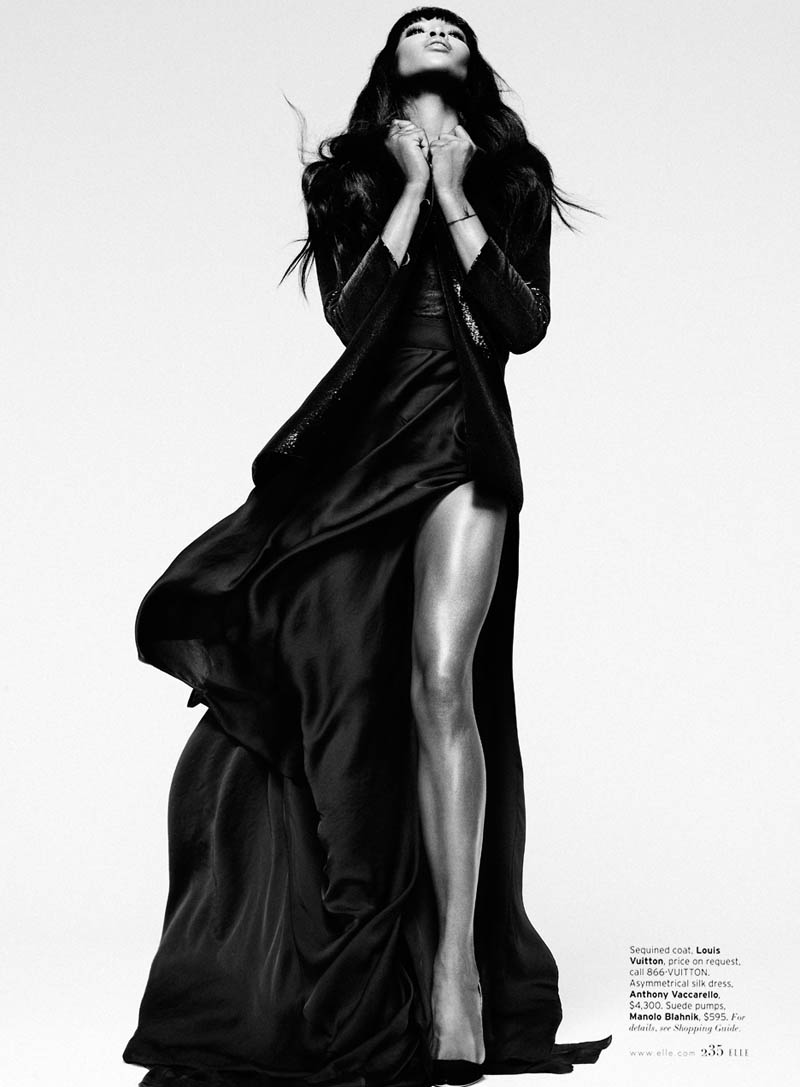 Naomi Campbell S05 0111 Naomi Campbell Works It for Elle US February 2013 by Thomas Whiteside
