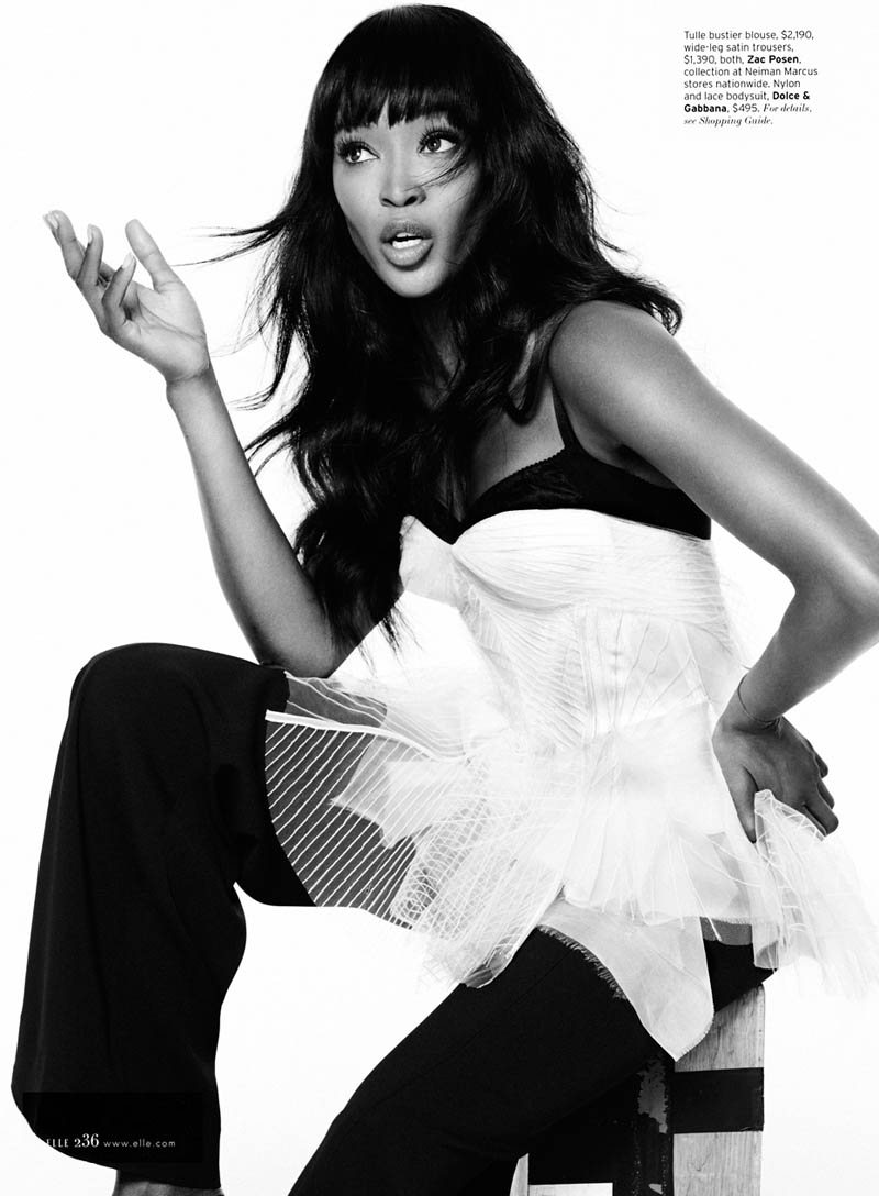 Naomi Campbell S06 0078v2 Naomi Campbell Works It for Elle US February 2013 by Thomas Whiteside