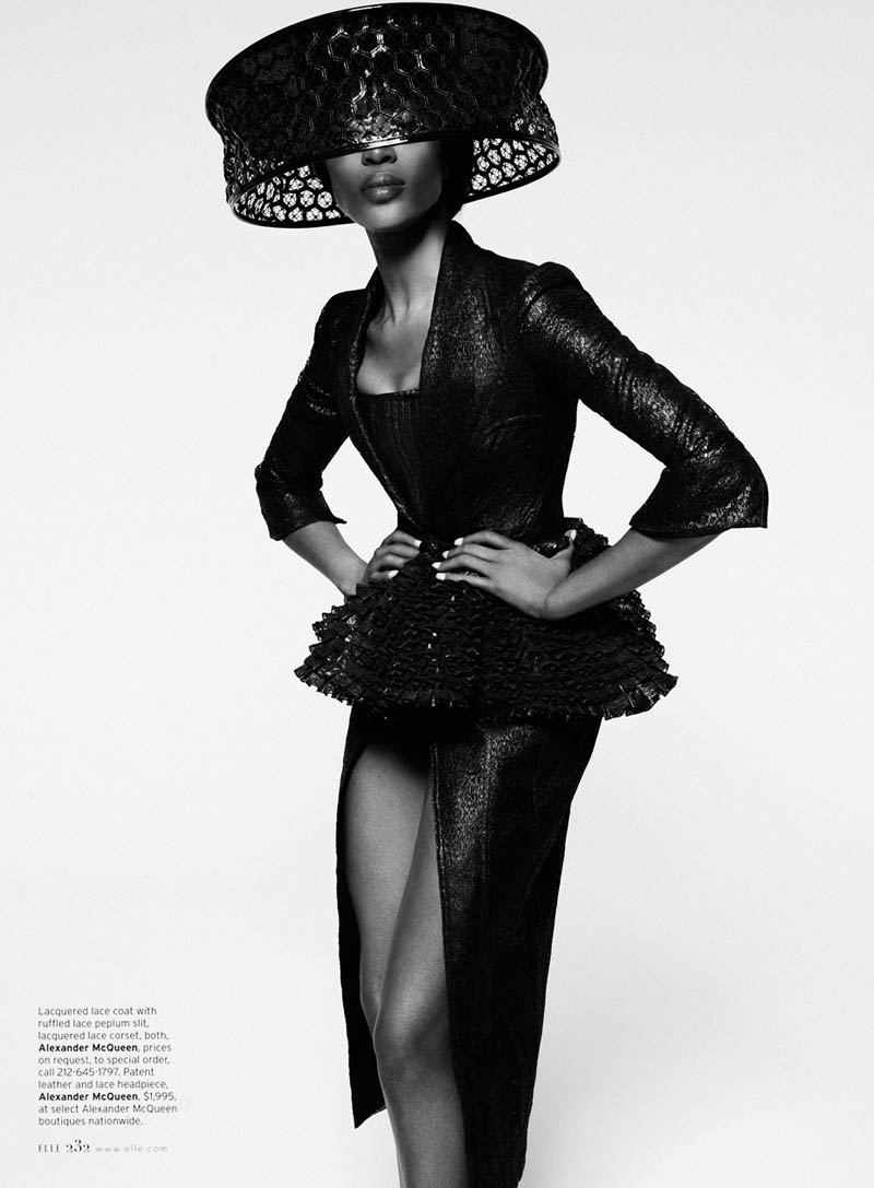 Naomi Campbell S09 0008 Naomi Campbell Works It for Elle US February 2013 by Thomas Whiteside