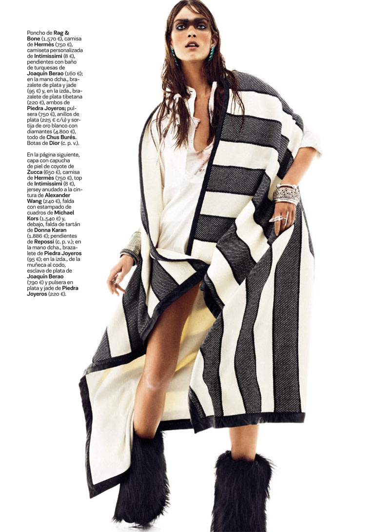 NomadModa2 Maria Palm Dons Nomadic Style for S Modas January 2013 Issue by Alvaro Beamud Cortes