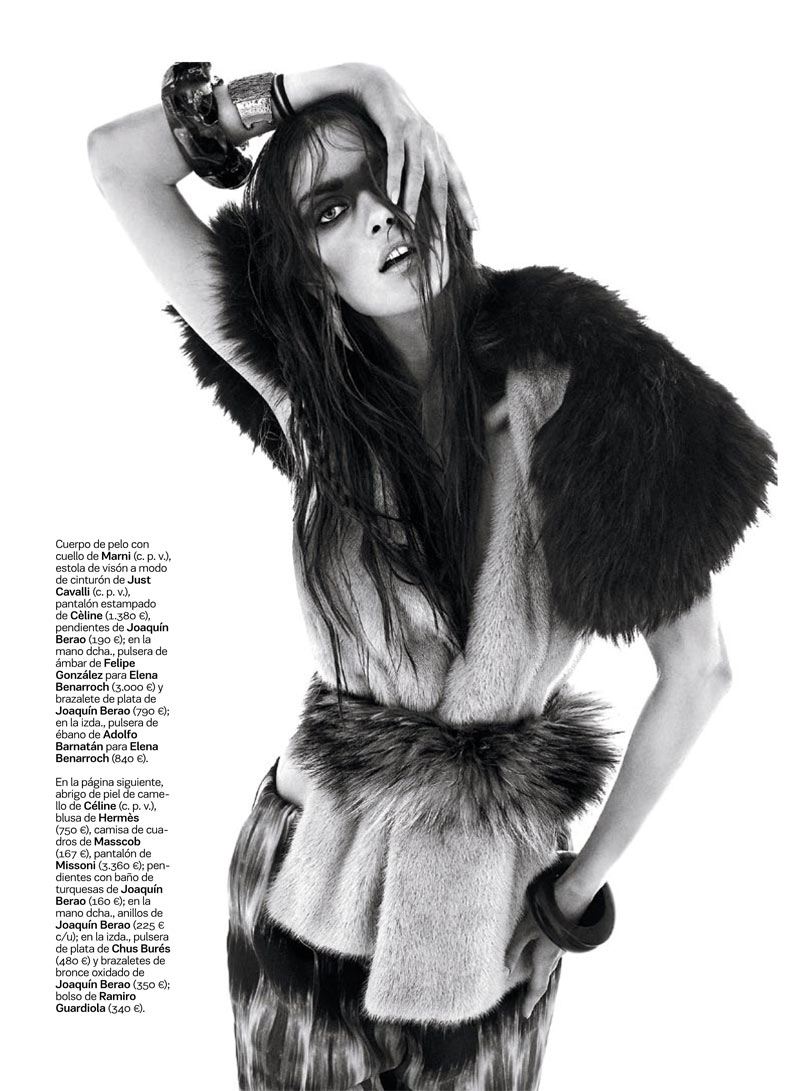 NomadModa4 Maria Palm Dons Nomadic Style for S Modas January 2013 Issue by Alvaro Beamud Cortes