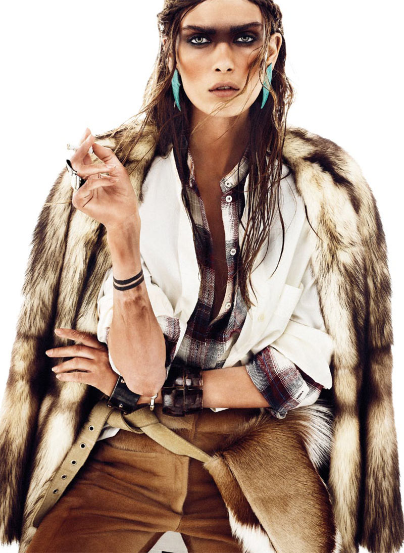 NomadModa5 Maria Palm Dons Nomadic Style for S Modas January 2013 Issue by Alvaro Beamud Cortes