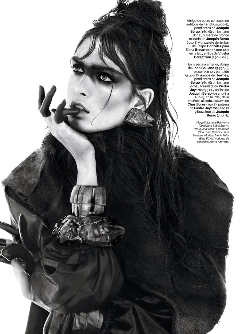 NomadModa7 Maria Palm Dons Nomadic Style for S Modas January 2013 Issue by Alvaro Beamud Cortes