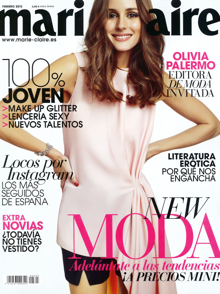 OliviaMC7 Olivia Palermo Stars in Marie Claire Spain February 2013 Cover Shoot by Nacho Alegre