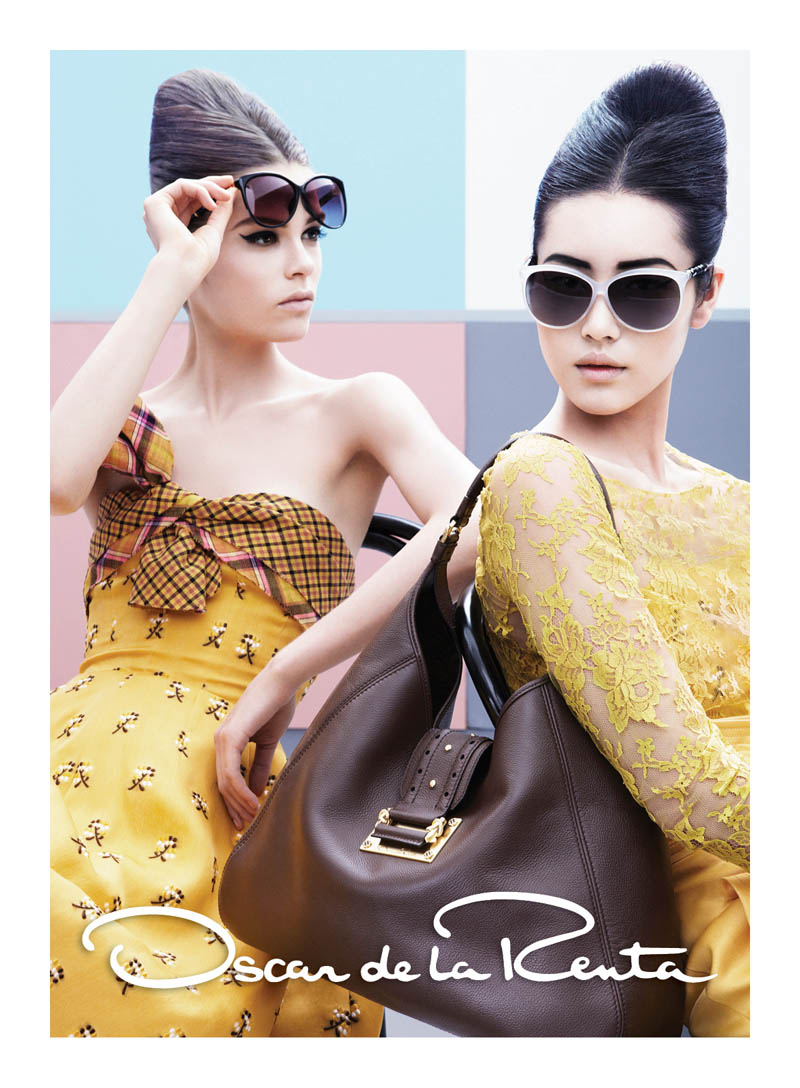 OscarSpring3 Liu Wen and Caroline Brasch Nielsen Are Retro Glam for Oscar de la Renta Spring 2013 Campaign by Craig McDean