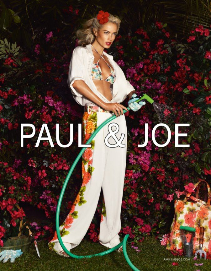 PaulJoe3 Carolyn Murphy Gardens in Style for Paul & Joes Spring 2013 Campaign