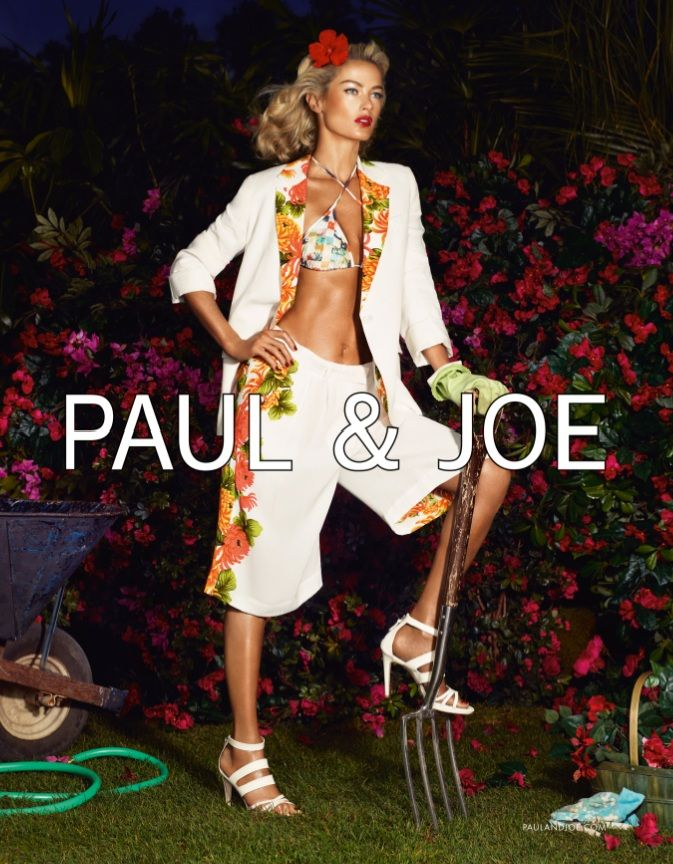 PaulJoe4 Carolyn Murphy Gardens in Style for Paul & Joes Spring 2013 Campaign