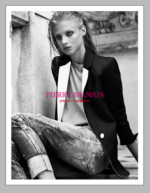 Pierre Balmain Spring 2013 Women Ad Campaign Anna Selezneva Keeps it Understated in Pierre Balmains Spring 2013 Campaign
