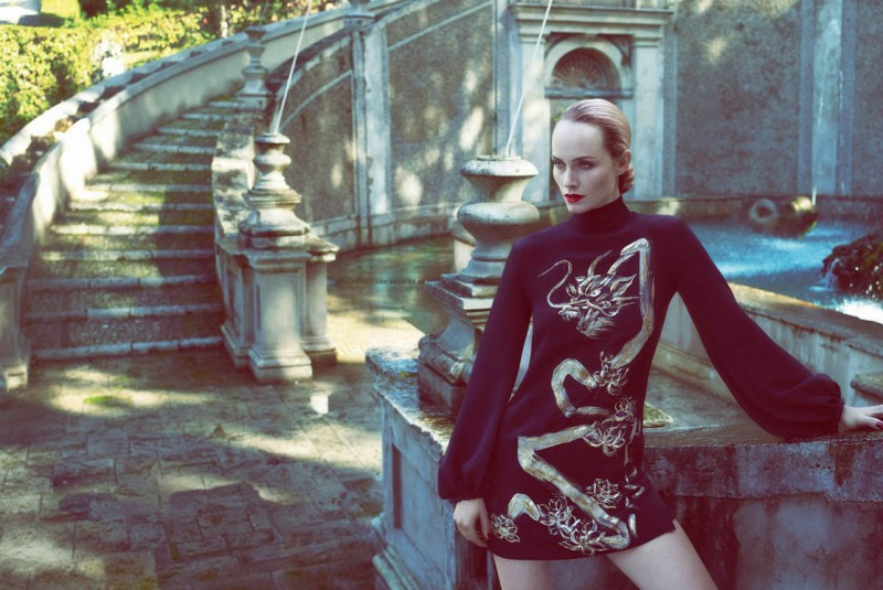 PucciSpring2 800x535 Amber Valletta Returns for Emilio Pucci Spring 2013 Campaign by Mert & Marcus