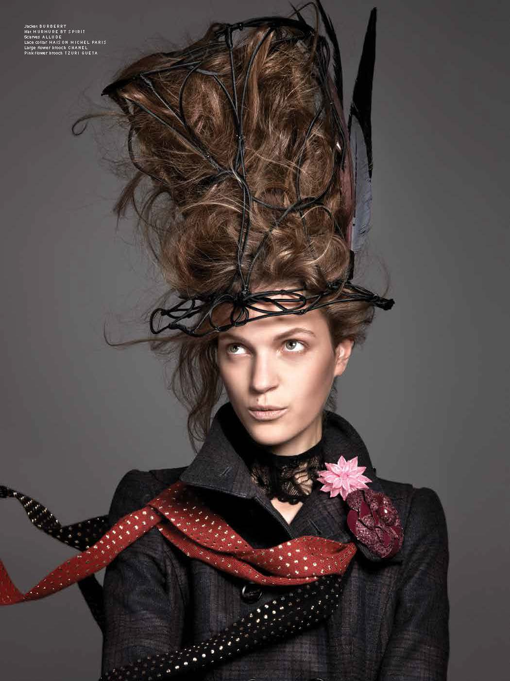 PulpMagda2 Magdalena Langrova Looks Mad as a Hatter for Pulp Magazine No. 6 by Ishi