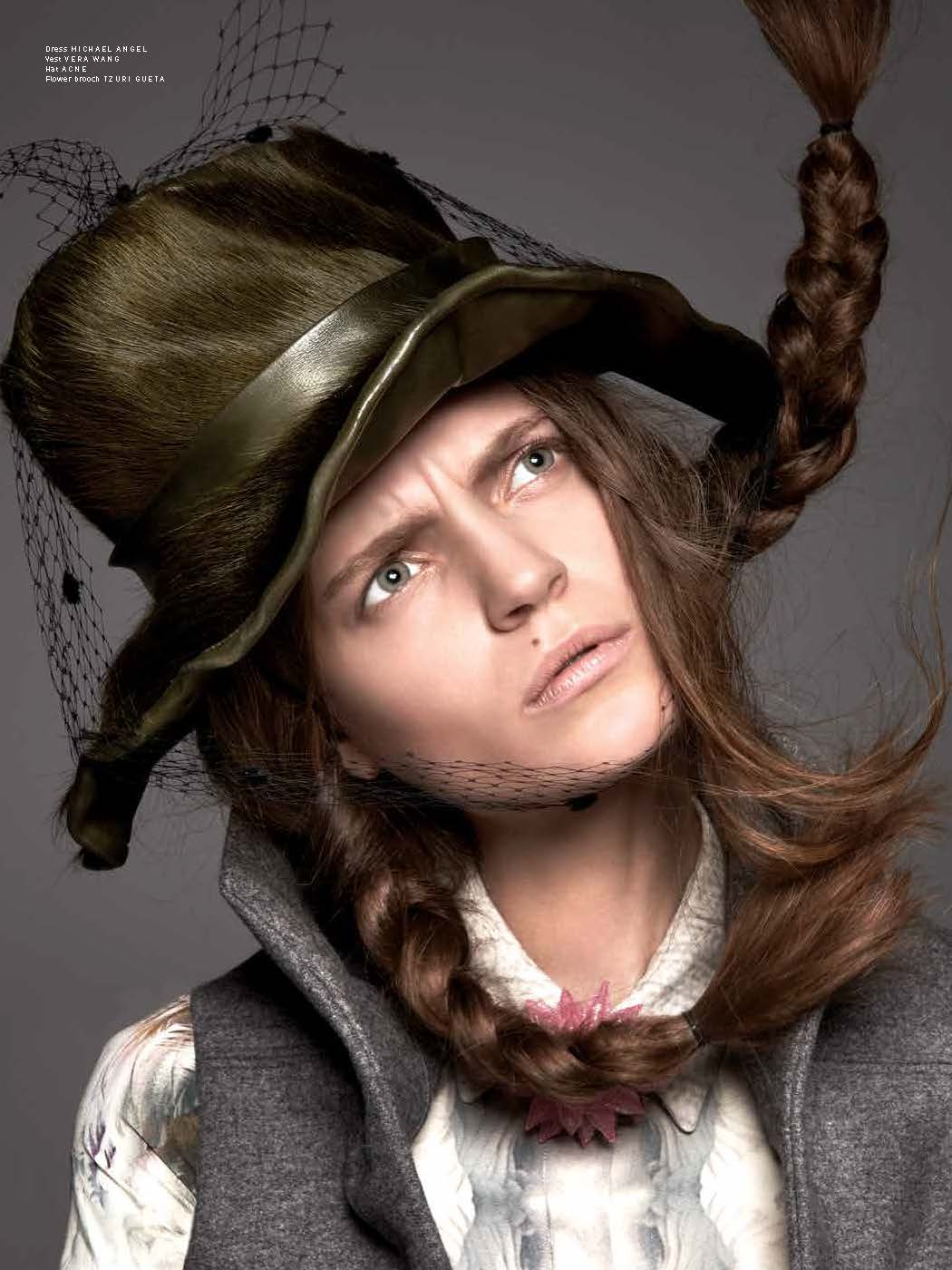 PulpMagda6 Magdalena Langrova Looks Mad as a Hatter for Pulp Magazine No. 6 by Ishi