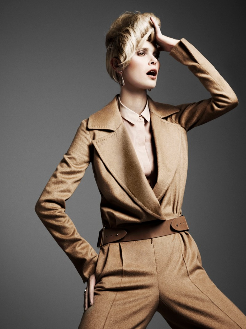Dewi Driegen Sports Tailored Looks for Marie Claire Netherlands by Philip Riches