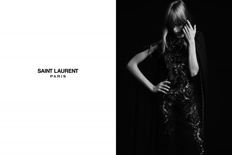 SaintLaurent11 800x533 Edie Campbell Stars in the Saint Laurent Spring 2013 Campaign by Hedi Slimaine