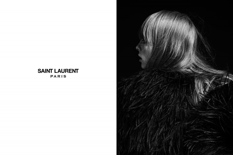SaintLaurent2 800x533 Edie Campbell Stars in the Saint Laurent Spring 2013 Campaign by Hedi Slimaine