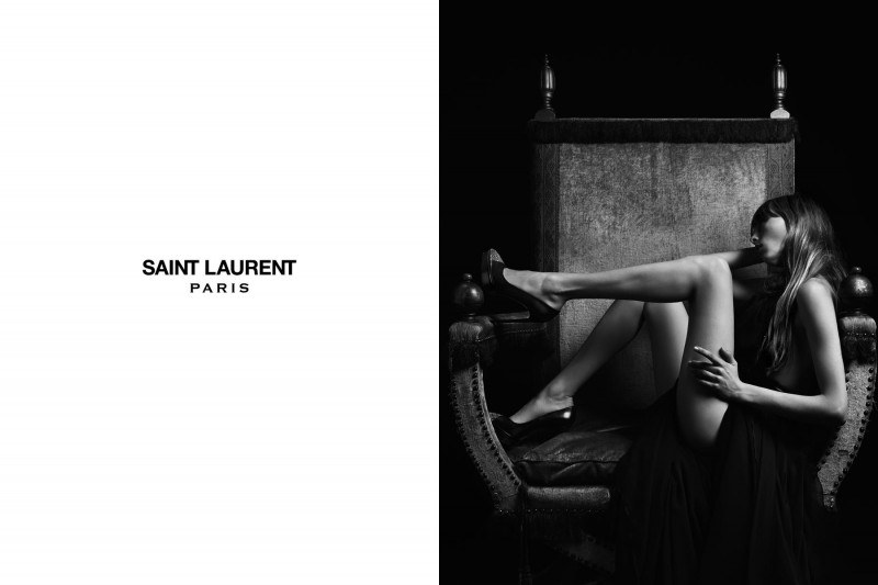 SaintLaurent7 800x533 Edie Campbell Stars in the Saint Laurent Spring 2013 Campaign by Hedi Slimaine