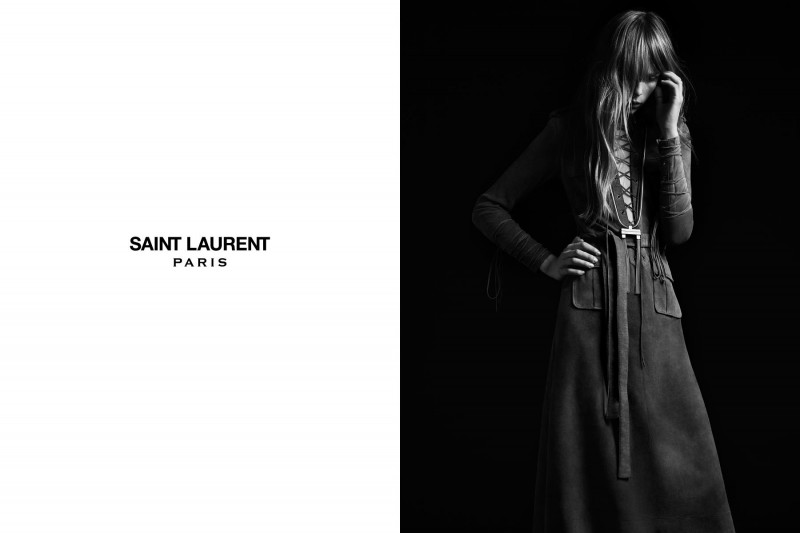 SaintLaurent9 800x533 Edie Campbell Stars in the Saint Laurent Spring 2013 Campaign by Hedi Slimaine
