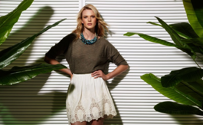 Suiteblanco ss13 campaign woman 02 800x492 Anne Vyalitsyna Poses for SuiteBlanco Spring/Summer 2013 Campaign
