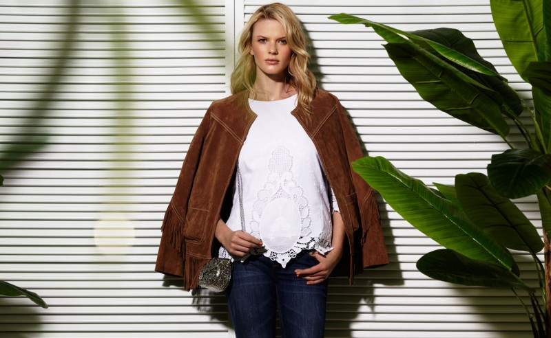 Suiteblanco ss13 campaign woman 04 800x492 Anne Vyalitsyna Poses for SuiteBlanco Spring/Summer 2013 Campaign